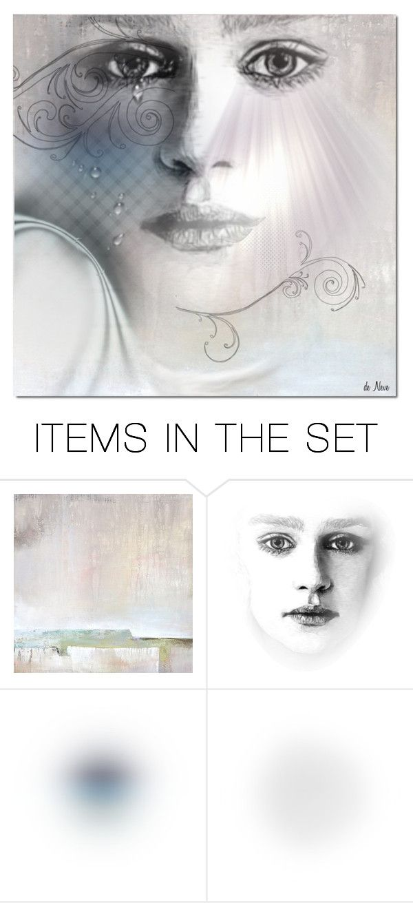"""""""PORTRAIT"""" by deneve ❤ liked on Polyvore featuring art"""