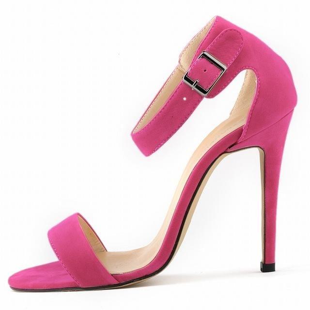b13924e4722 Women Sexy Party Open Toe Thin Heels Pumps Bridal Flock High Heels Shoes  Pumps 8 color