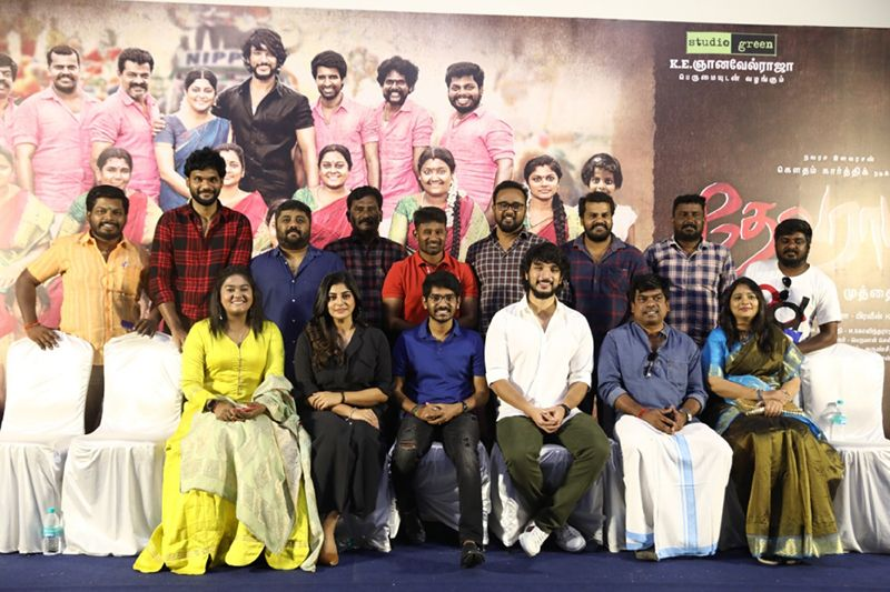 Gautham Karthik, Manjima Mohan At Devarattam Movie Press Meet