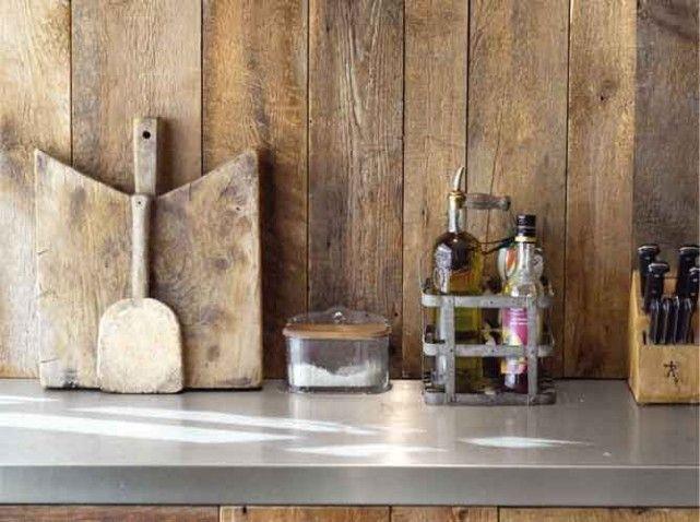 Une crédence en bois pour la cuisine Cuisine Kitchen Pinterest