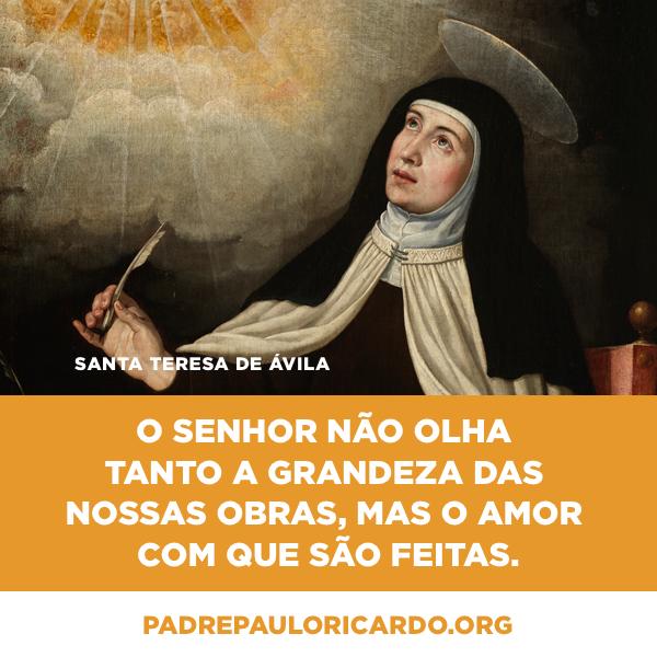 Santa Teresa Dávila Santa Teresa De Jesus Frases O Senhor Não