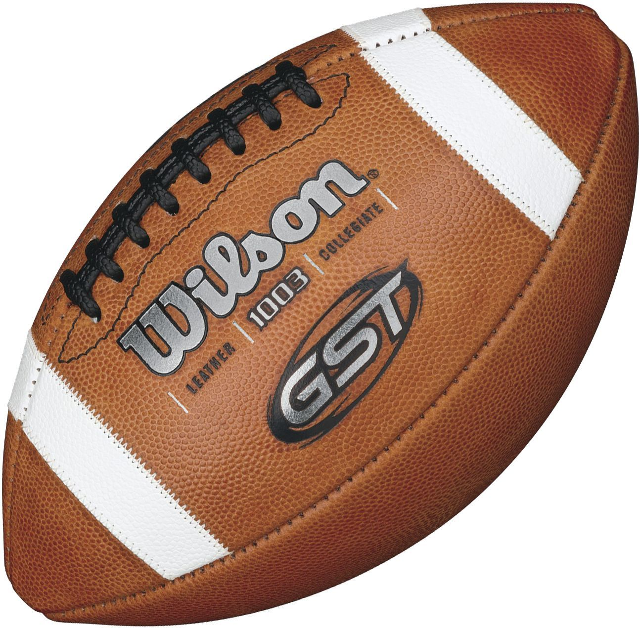 Wilson Ncaa 1003 GST Leather Silver Official Football