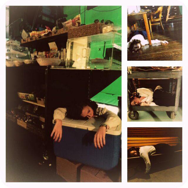 Hayley Atwell Sleeping Wherever She Can On Set Haha Hayley