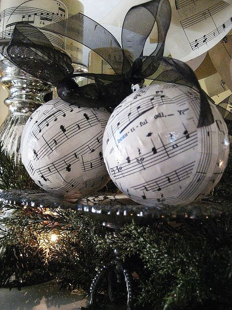 christmas decorations from sheet music sheet music christmas ornament and wreaths