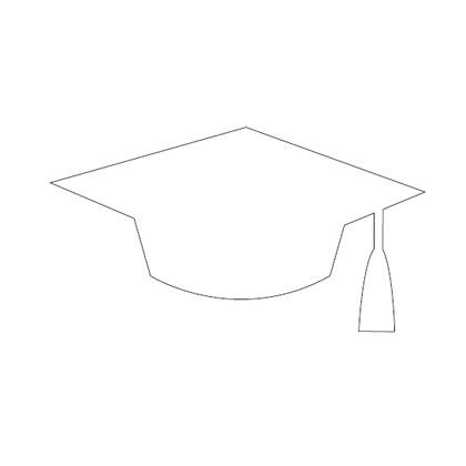 graduation mortar board template - graduation caps printable mortar board pattern