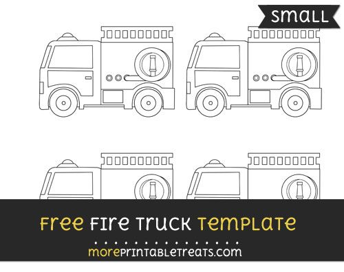 photo about Fire Truck Template Printable named Totally free Hearth Truck Template - Minor Picket Do the job Hearth Trucksfire