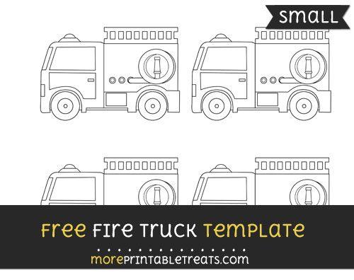 image regarding Fire Truck Template Printable identified as No cost Hearth Truck Template - Little Wooden Effort Fireplace Trucksfire