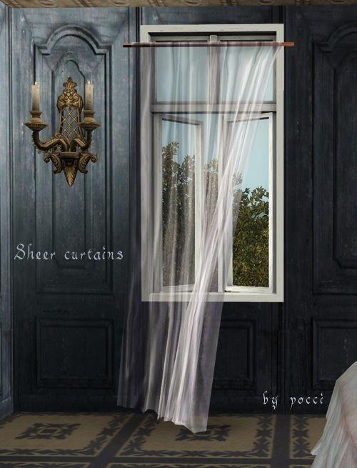 Sheer Curtains At Gardenbreeze Sims 3 Finds