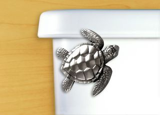Our Playful, Unique Sea Turtle Toilet Flush Handle In Satin Pewter Adds A  Charming Natural Flair To Your Bathroom In A Clever And Unexpected Way.