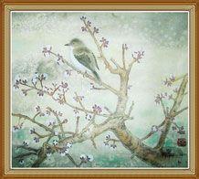 Bird Plum Blossoms Original Chinese Painting Wall Art by Shuai Liu
