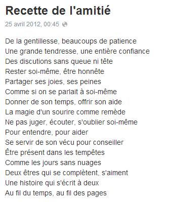 Recette De Lamitié Citation Amitié Citation Et Belles