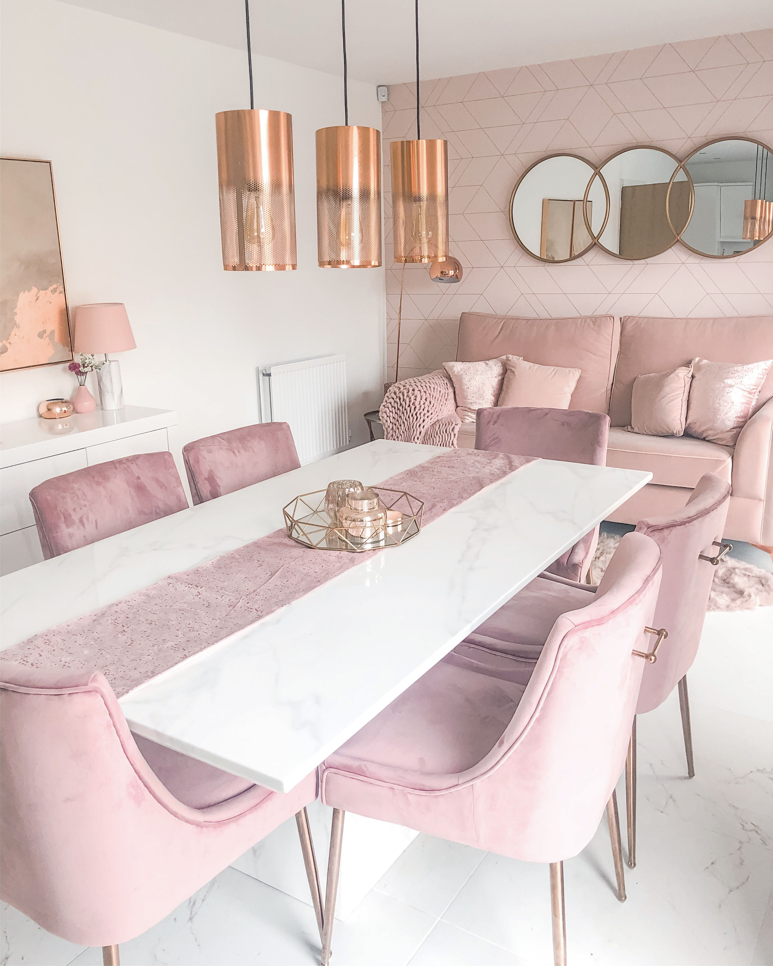 29+ Pink dining room table and chairs Top