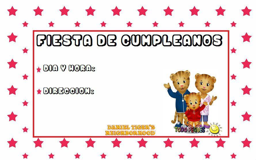 Invitaciones de cumpleaños de Daniel Tigre | Todo Peques | MAURICIO ...