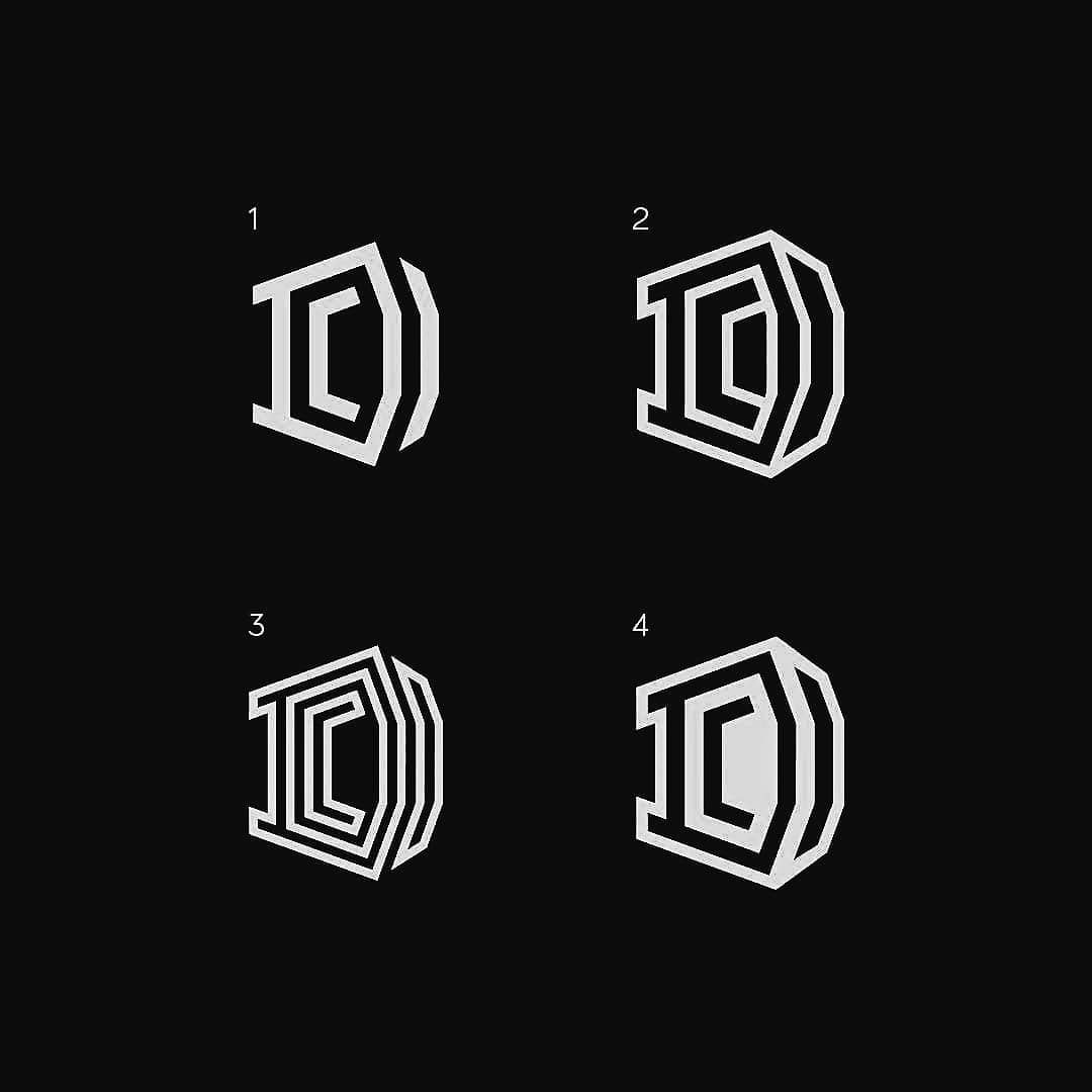 DC monograms  123 or 4? Work by @garamonk Follow us for more
