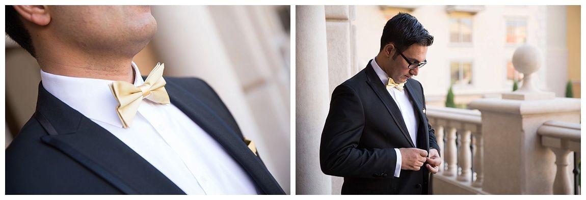 Las Vegas Wedding Planner Hilton Lake Groom Portraits