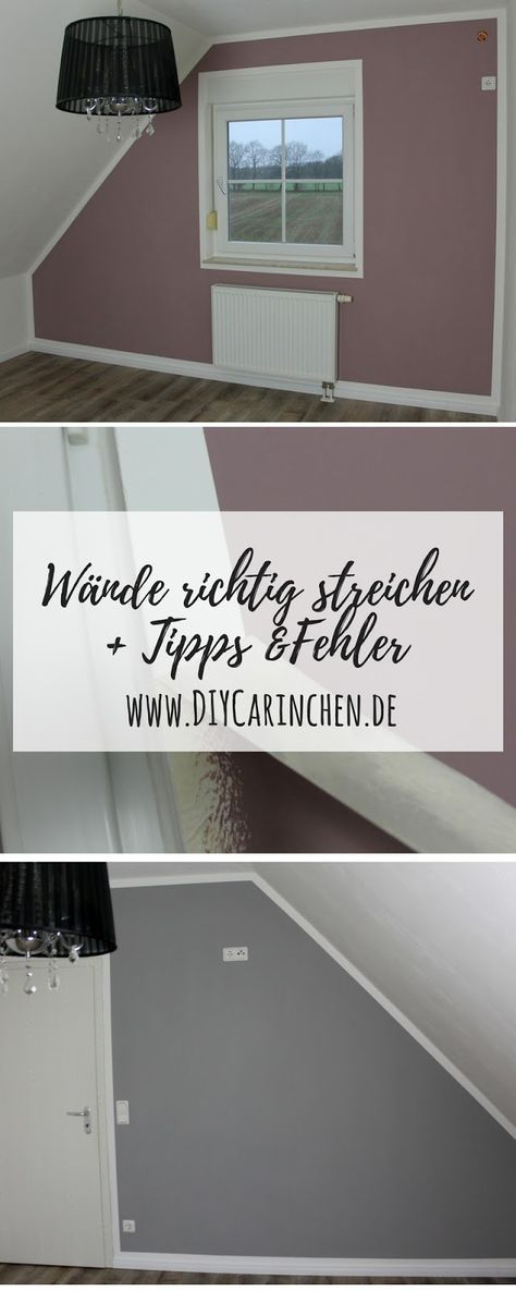 diy w nde richtig streichen mit tipps tricks fehlern die man ganz leicht vermeiden kann in. Black Bedroom Furniture Sets. Home Design Ideas