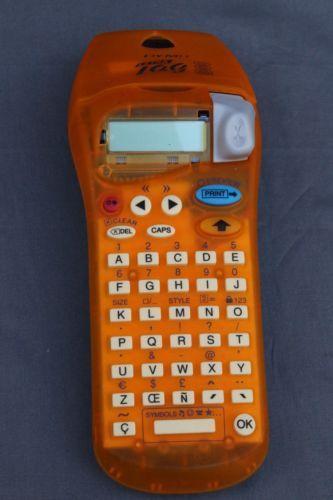 Dymo-Letra-Tag-2000-Label-Maker-Orange-Electronic-Labeler