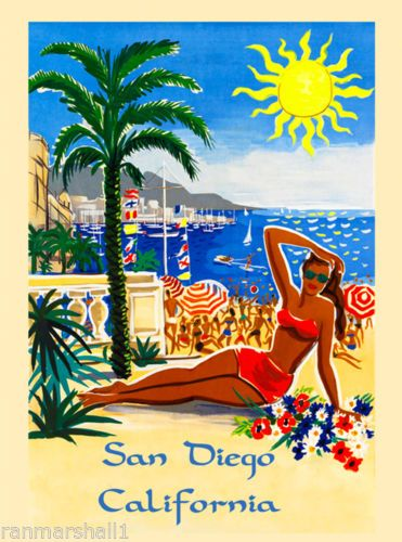 San-Diego-Beach-Caifornia-United-States-Vintage-Travel-Advertisement-Poster