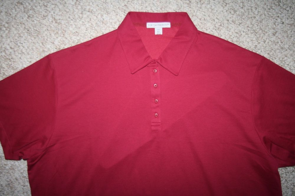 Port Authority burgundy red polo shirt 4XL cotton polyester woMens Choice women #PortAuthority #PoloShirt #Casual