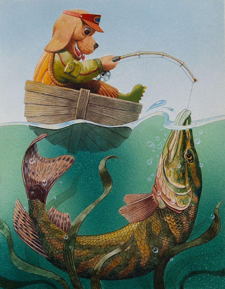 Артём Липинский - Картинка к азбуке (Щ) | fishing | Pinterest ...