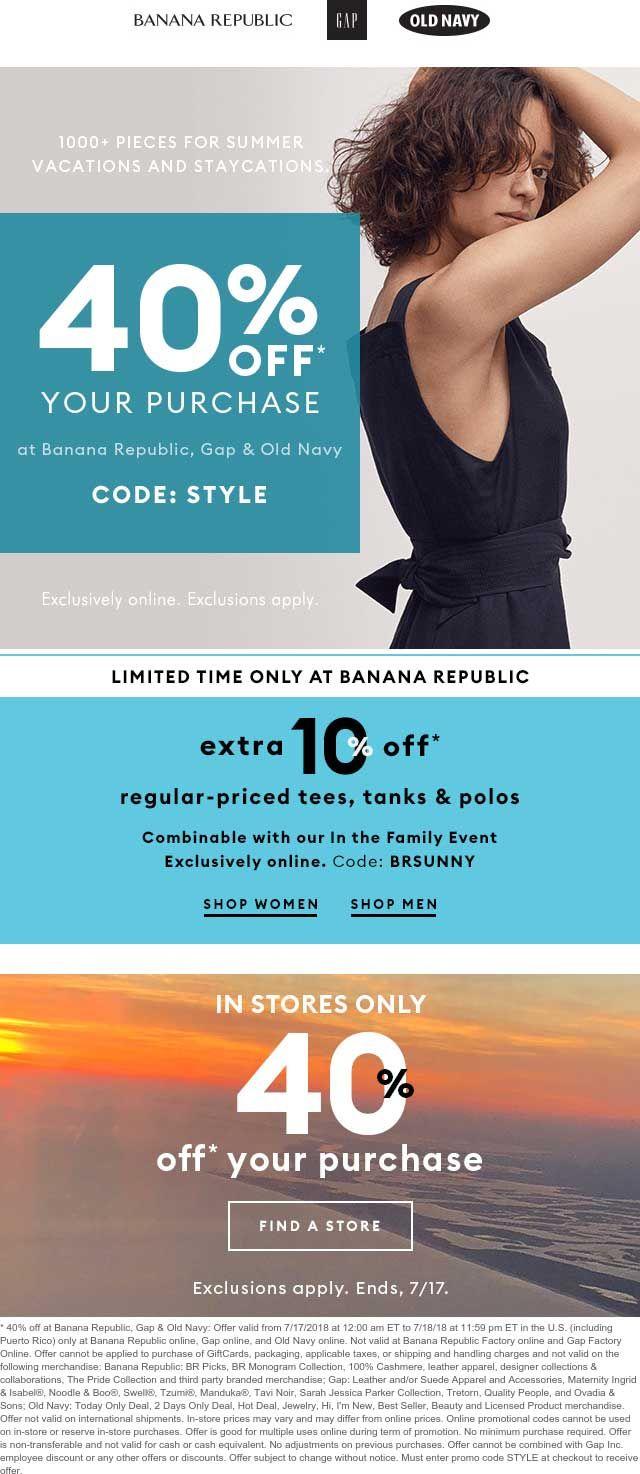Banana Republic 🆓 Coupons & Shopping Deals! Shopping