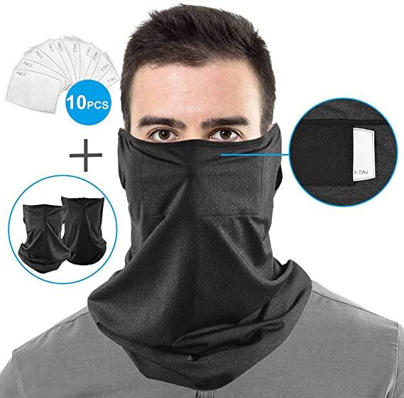 Frestepvie Bandanas Multifonctions Masques Magic Hommes Cache-Cou Coupe-Vent Antipoussi/ère /Élastique Respirant pour Sports Plein Air /Ét/é