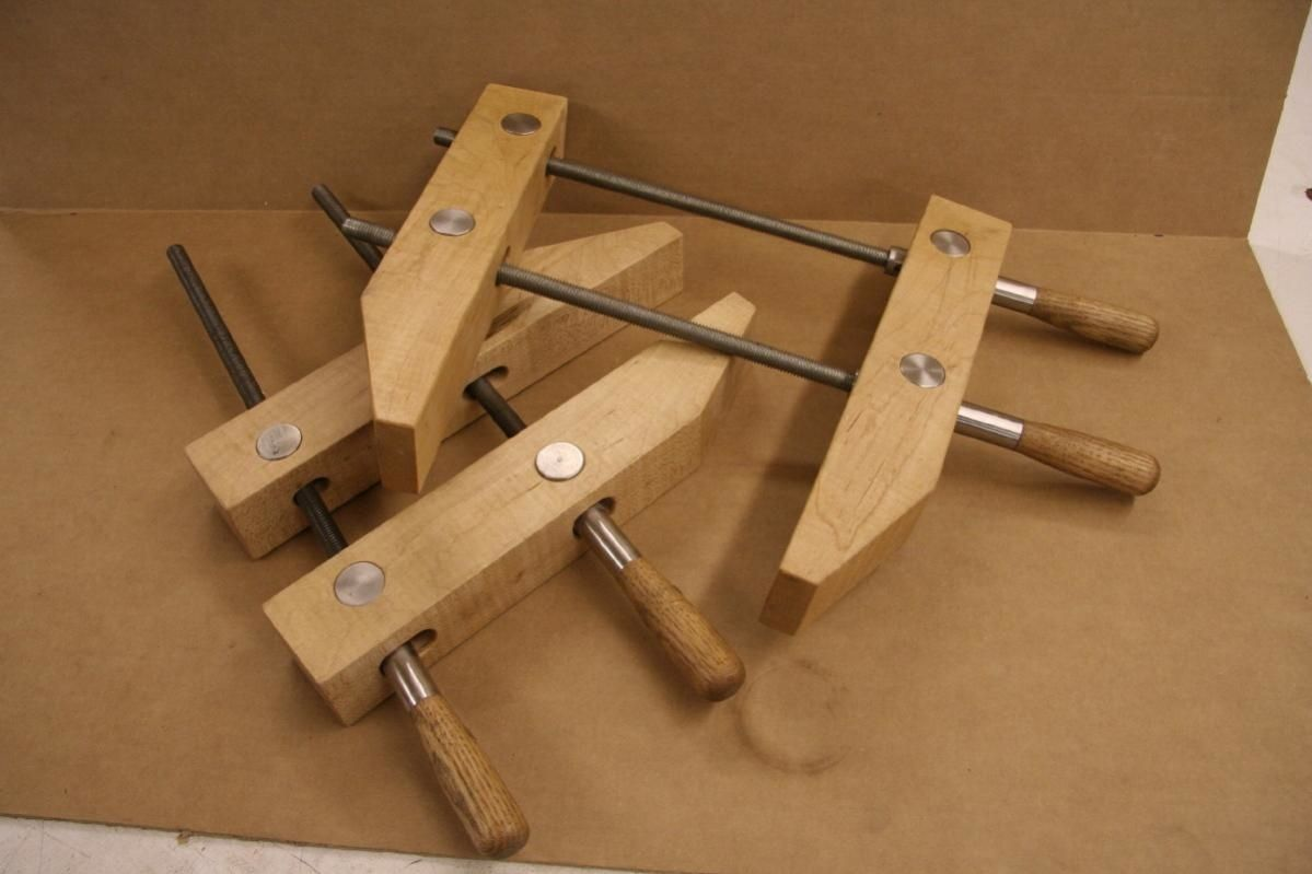 Parallel Clamps By Catfish Parallel Clamps Maple 2 1 4 X 2 1 4 X 12 3 4 And Stainless Steel Pins And Handle Attachment Oak Handles 1 Ferramentas Ideias