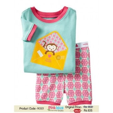 07f1d2e965bf Classy Sky Blue Kids T-Shirt with Shorts in Flower Print - Baby GAP  Clothing Set