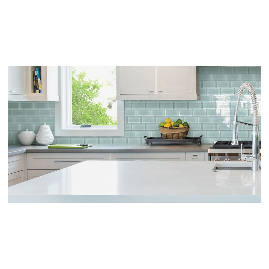 lowes kitchen wall tile shop american olean stellaris gemini glass wall tile 7272