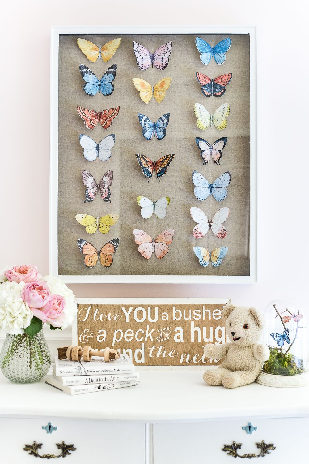 DIY Butterfly Study Shadow Box | Butterfly bedroom, Decor ...