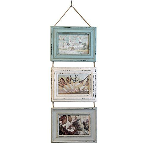 Just Contempo Rustic Triple Hanging Photo Frame - Green, ... https ...
