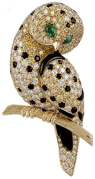 van cleef and arpels jewelry | Van Cleef & Arpels 18k. Gold colored and white diamonds, onyx and ...
