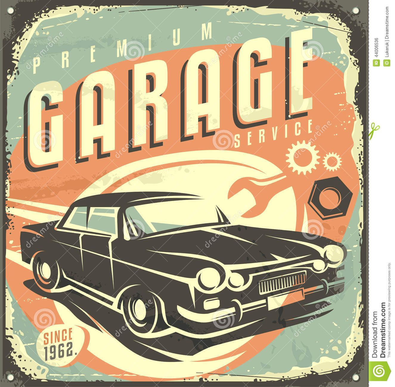 Car Old Garage Signs : Garage vintage metal sign download from over million