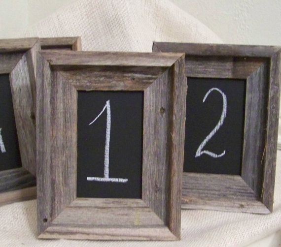 The 25 Best Rustic Table Numbers Ideas On Pinterest