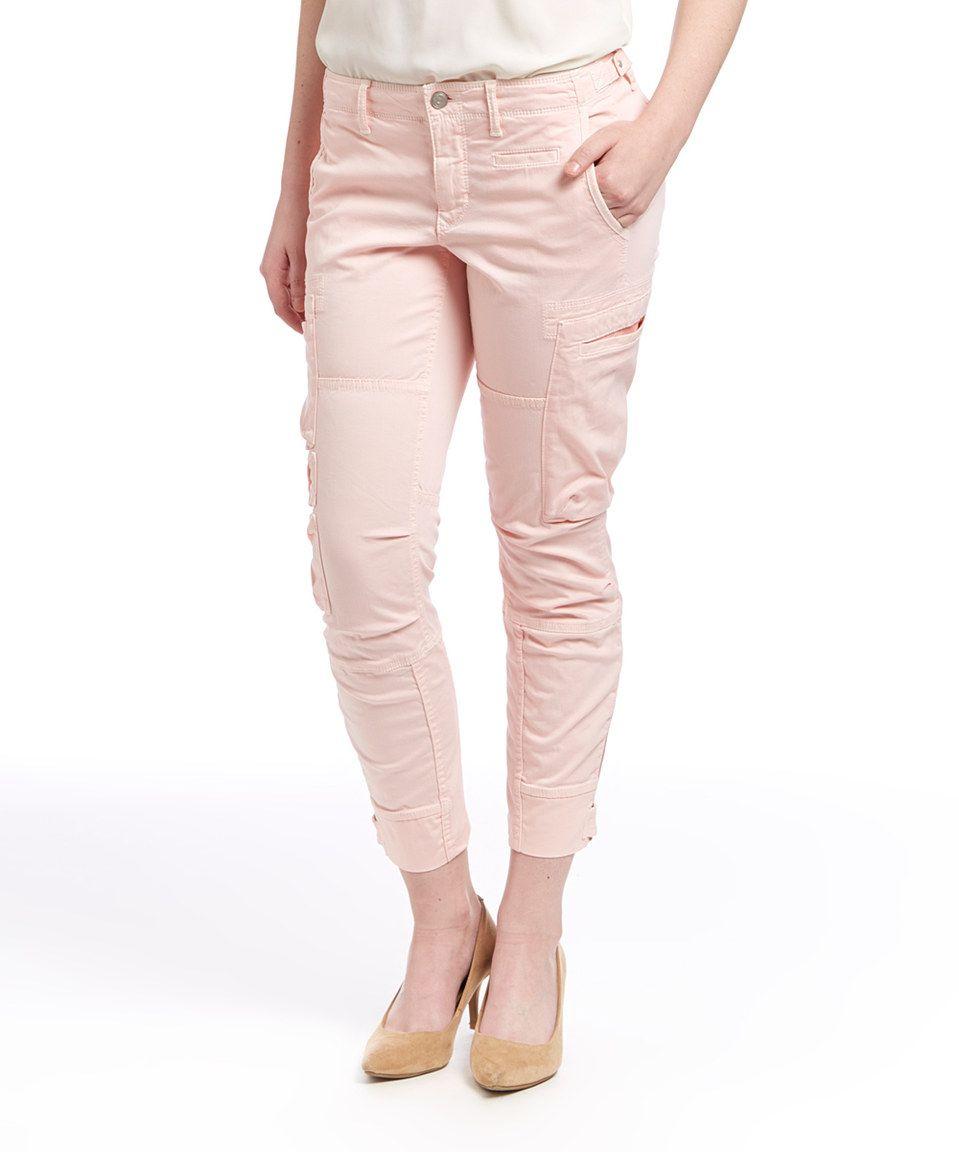 Another great find on #zulily! Jordan Louis Blush Utility Pants by Jordan Louis #zulilyfinds