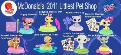 Littlest Pet Shop~McDonald/'s Happy Meal Toy Tan Cat w//Peach Ears on Pile Yarn