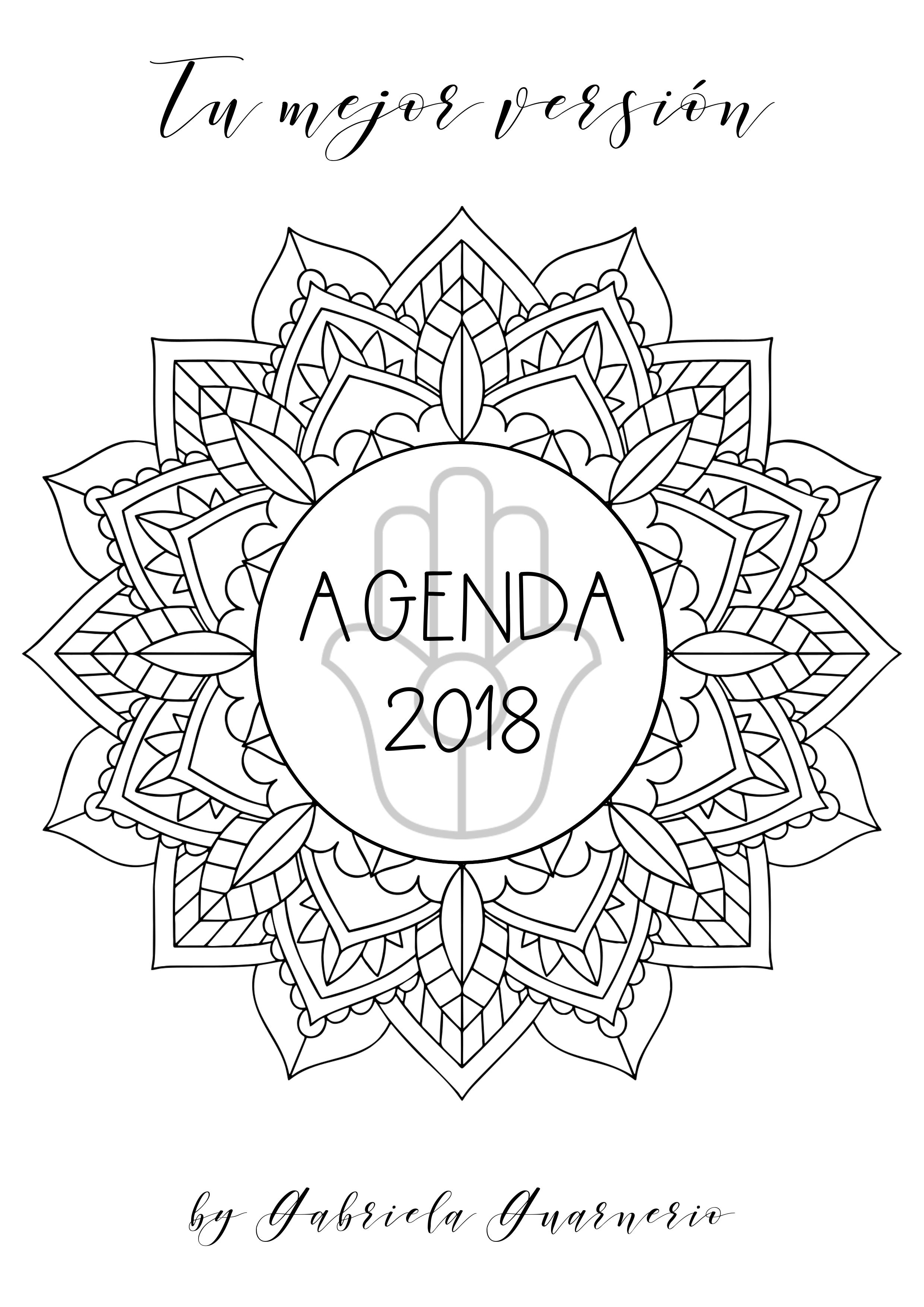 ULTIMOS DIAS Agenda 2018 gratis con mandalas para colorear y ...
