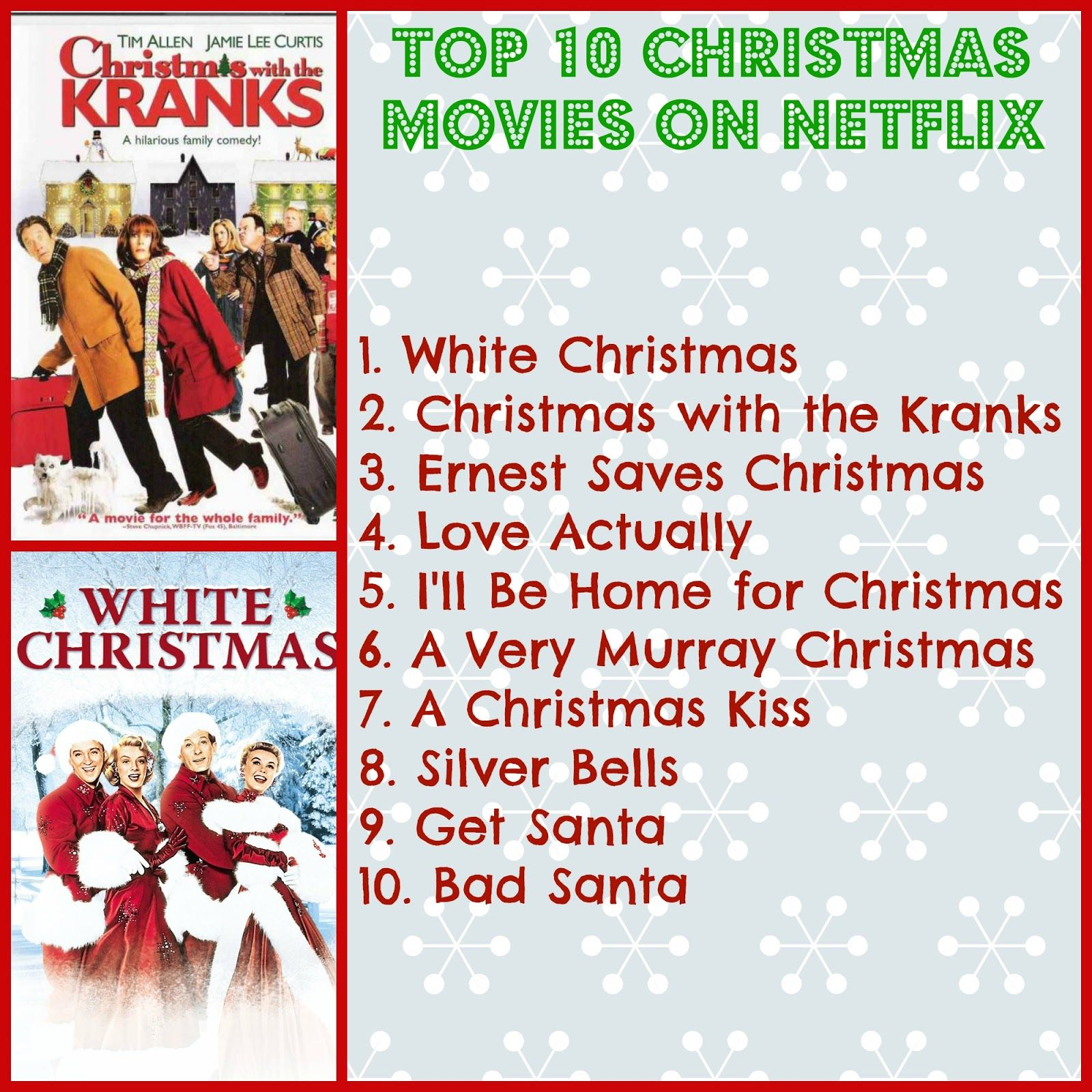 Save Green Being Green: Top 10 Christmas Movies on Netflix in 2015 ...