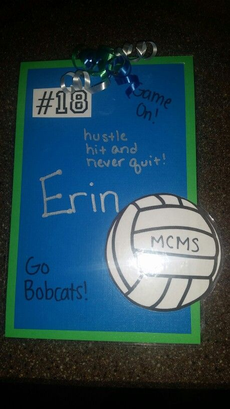 Vball locker decorations