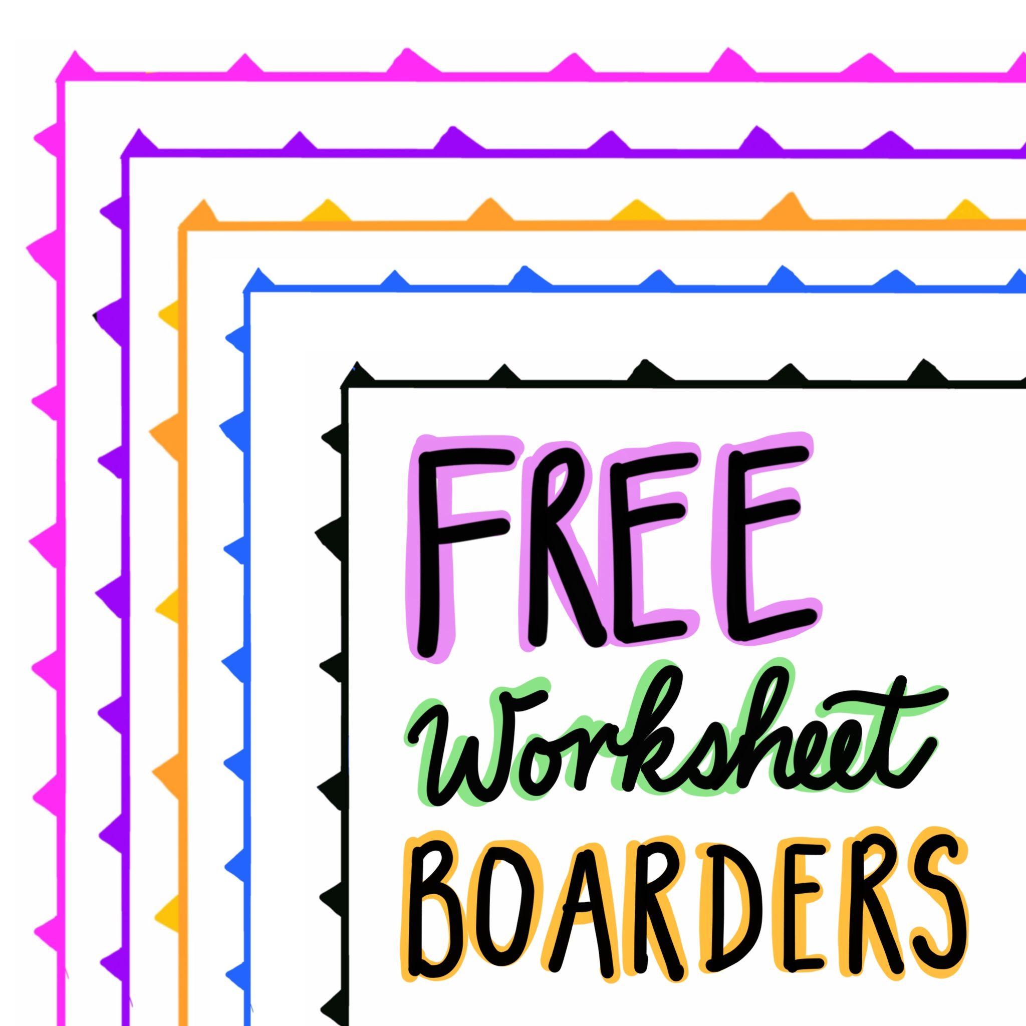 Free Flag Worksheet Boarders