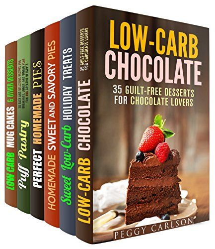 Pastry and Desserts Box Set (6 in 1): Guilt-Free Chocolates, Cookies, Pies, Cakes, and Puff Pastries to Indulge Yourself (Low Carb Desserts) by Peggy Carlson http://www.amazon.com/dp/B01COGU0FC/ref=cm_sw_r_pi_dp_98gfxb0Z4T3H0