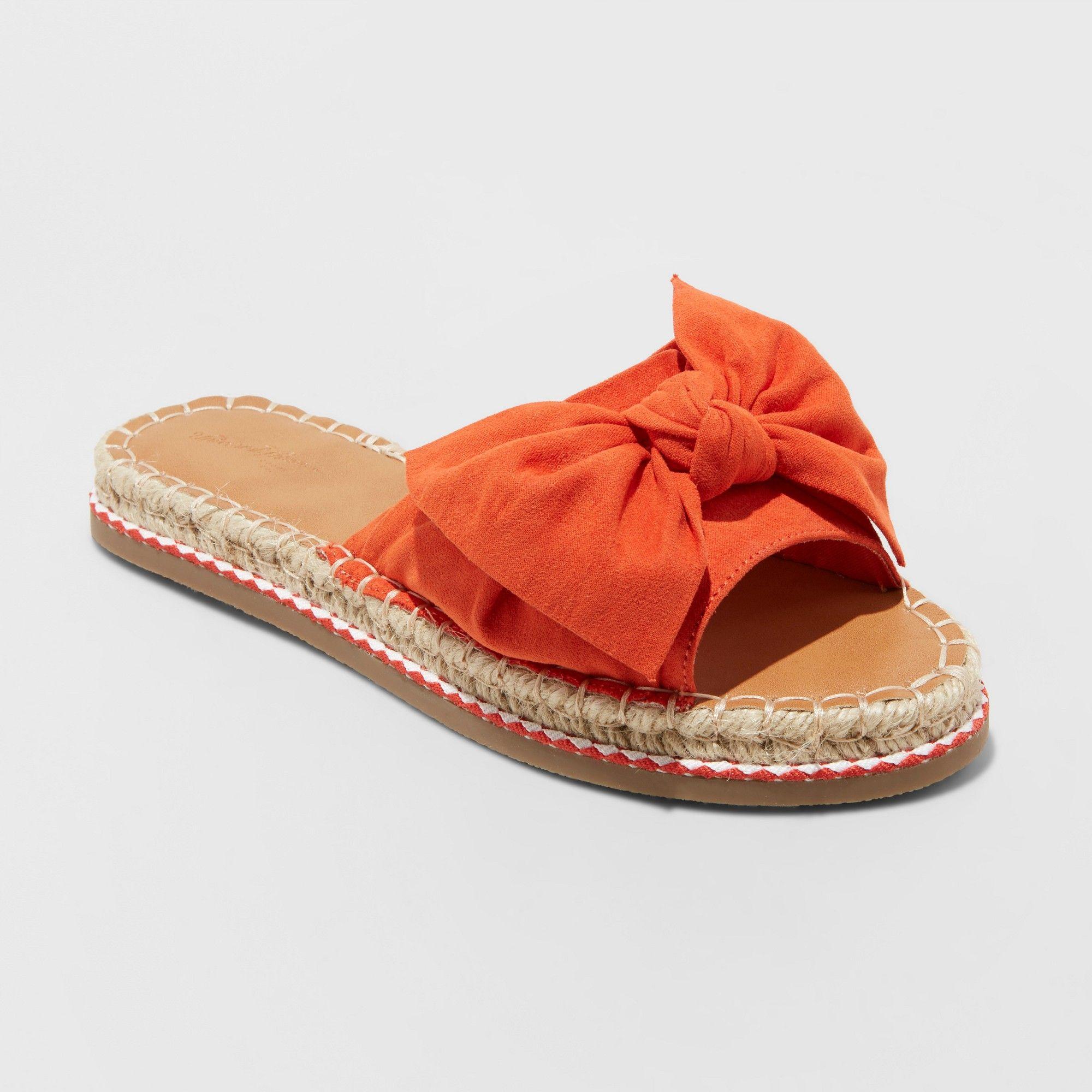 Women's Sigma Espadrille Knotted Bow Sandals – Universal Thread™ Orange 5.5