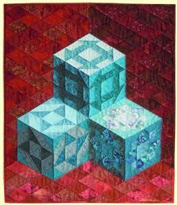 blokkendoosjes, traditioneel patchwork, isometrisch