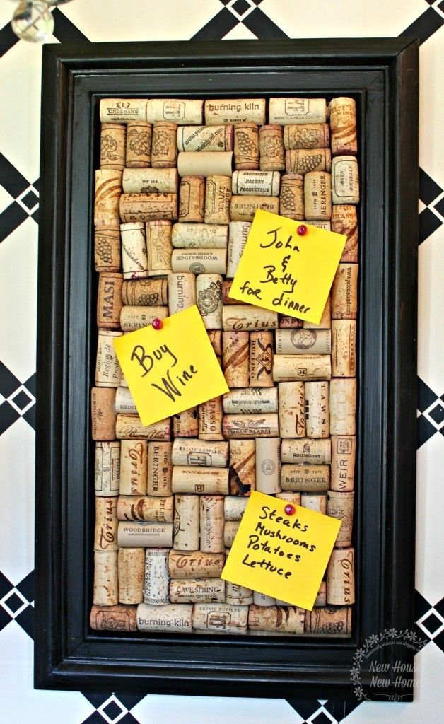DIY Cork Memo Board New Home Gifts Pinterest Cork Crafts Wine Magnificent Funky Memo Boards