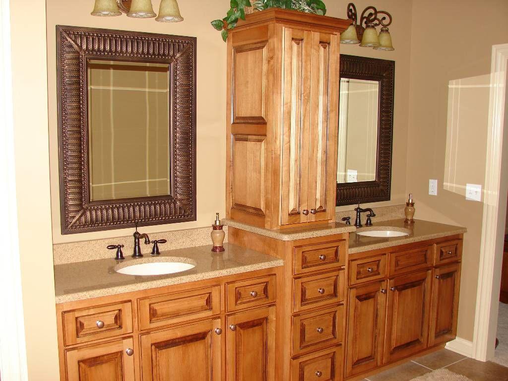 Bathroom Vanities With Hutches Maple Vanity With Linen