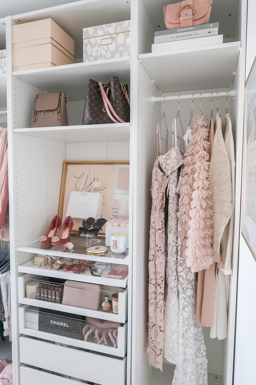 Cloffice Makeover Reveal Money Can Buy Lipstick Cloffice Tour Closet Office Walk In Closet Cus Closet Decor Small Apartment Organization Glass Closet