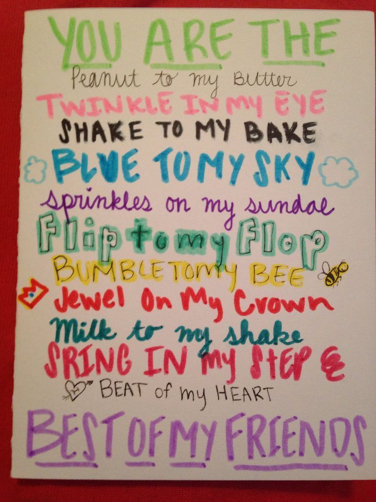 ideas to make a birthday card for a best friend
