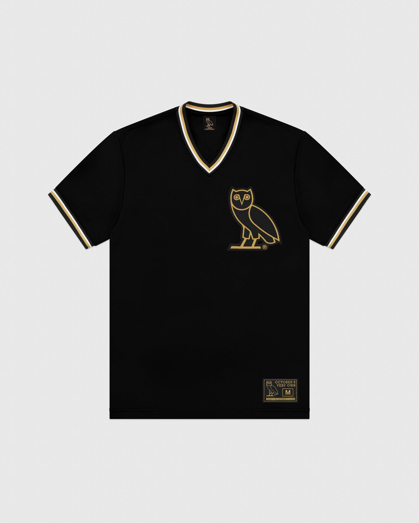 Ovo V Neck Baseball Jersey Black Mens Tops Baseball Jerseys Mens Tshirts