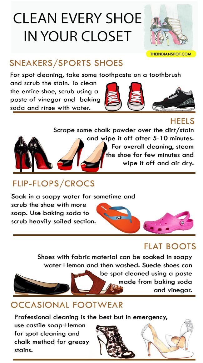 9aae2dd42cb CLEVER HACKS TO CLEAN EVERY TYPE OF SHOE IN YOUR CLOSET