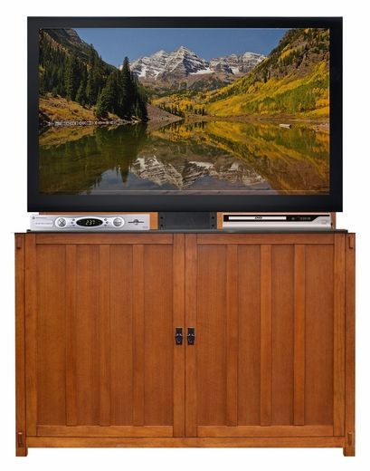 Lt H2 Gt Introducing The New Grand Elevate Mission Oak Tv Lift Cabinet Lt X2f H2 Gt Lt H3 Gt Pro Tv Lift Cabinet Mission Oak Recessed Lighting